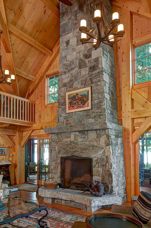 Lakefront-Lodge-Livingroom-Fireplace